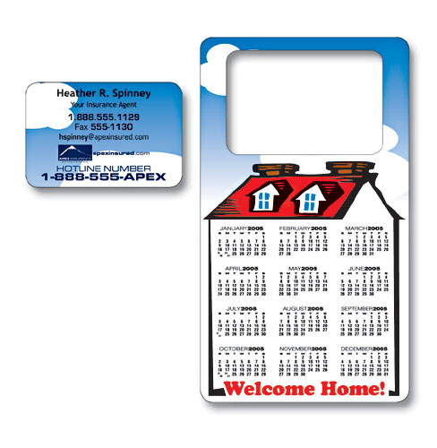 Picture Frame Calendar Magnet With Business Card Punch Out