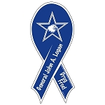 Outdoor Ribbon Magnet - With Star Punch-Out (2-Color)
