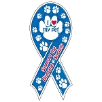 Outdoor Ribbon Magnet - With Paw Shape Punch-Out (2-Color)