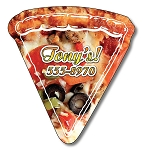 Pizza Slice Shape Magnet - (MEDIUM) 2.44