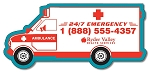Ambulance Shape Magnet - 5.25