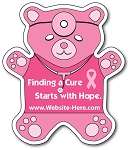 Awareness Teddy Bear Shape Magnet - 4