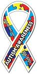 Large Awareness Ribbon Shape Magnet - 8