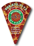 Pizza Slice Shape Magnet - (LARGE) - 3.5