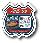 Food Truck Route Magnet - 2.9375