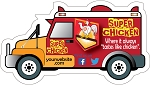 Food Truck Shape Magnet  - 4
