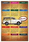 Rectangle Calendar Indoor Magnet - 3