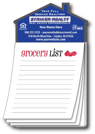 Magna-Pad House Shape Magnet - Grocery List (50 Sheets)