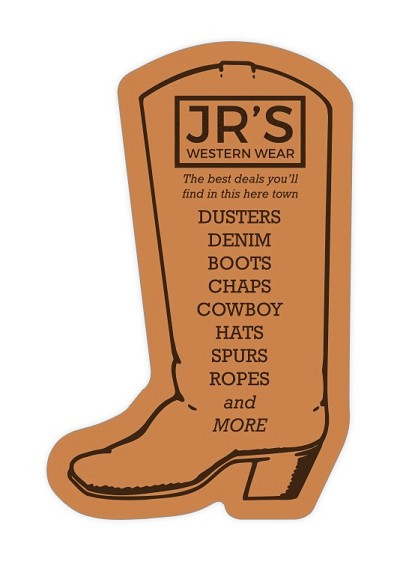 Cowboy Boot Shape Magnet - 1.75