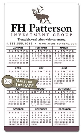 Financial Services Calendar Magnet with Rounded Corners - 3.5