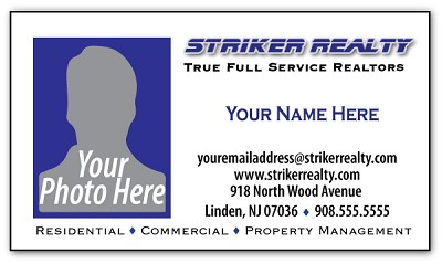 Striker Business Card Magnet