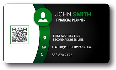 Financial Services .25Mil Indoor Business Card Magnet