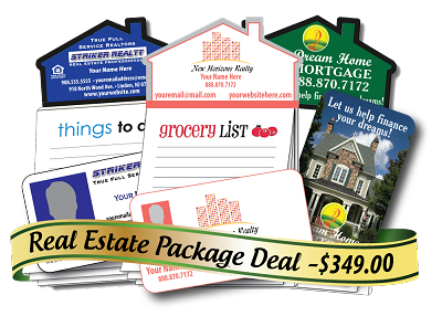 Real Estate Package - 1,000 Business Card Magnets + 500 MagnaPads