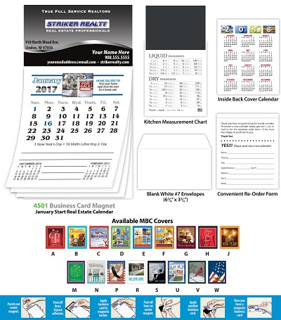 Magna-Cal Business Card Magnet With Real Estate Calendar